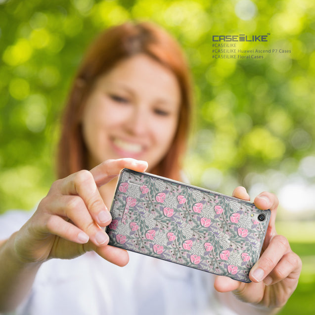 Share - CASEiLIKE Huawei Ascend P7 back cover Flowers Herbs 2246