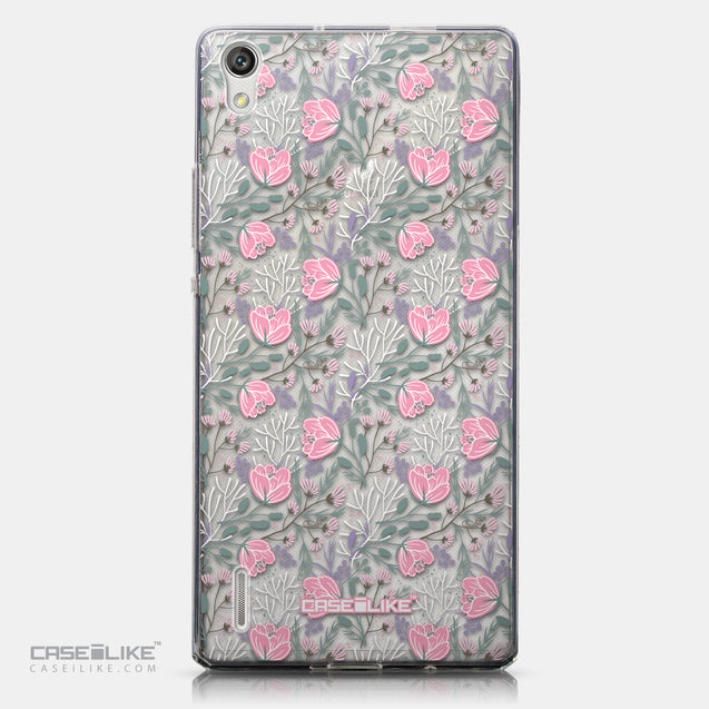 CASEiLIKE Huawei Ascend P7 back cover Flowers Herbs 2246