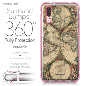 Huawei P20 case World Map Vintage 4607 Bumper Case Protection | CASEiLIKE.com