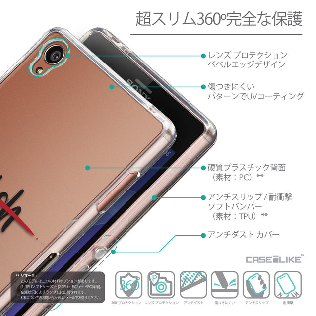 Details in Japanese - CASEiLIKE Sony Xperia Z3 back cover Quote 2407