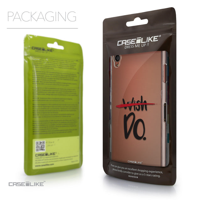 Packaging - CASEiLIKE Sony Xperia Z3 back cover Quote 2407