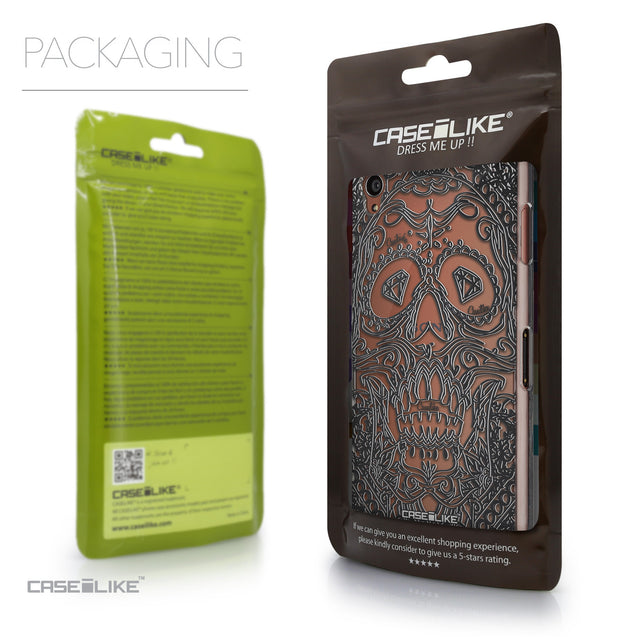 Packaging - CASEiLIKE Sony Xperia Z3 back cover Art of Skull 2524