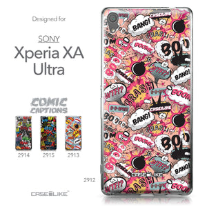 Sony Xperia XA Ultra case Comic Captions Pink 2912 Collection | CASEiLIKE.com