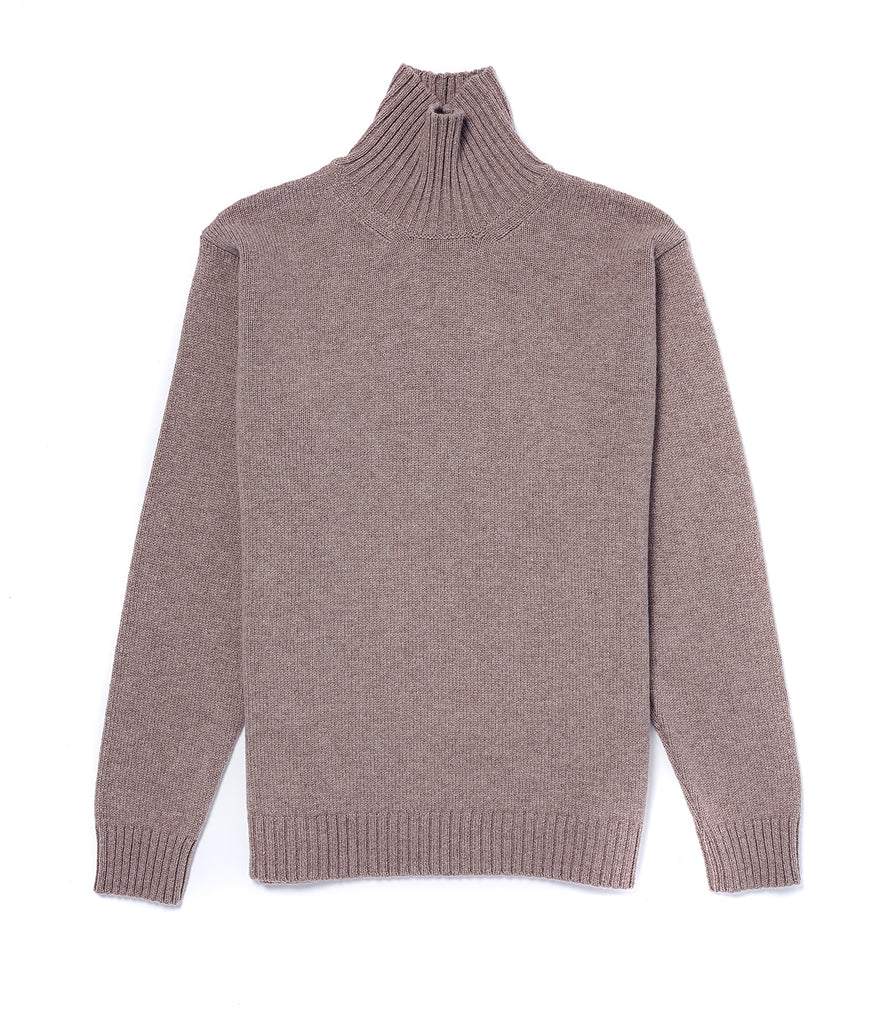 Staple Lambswool Funnel Neck • Oatmeal