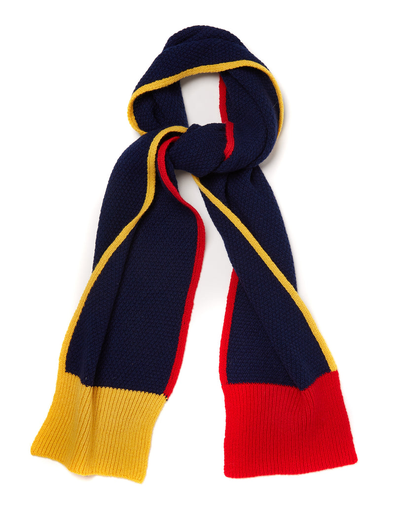 Navy Honeycomb Scarf