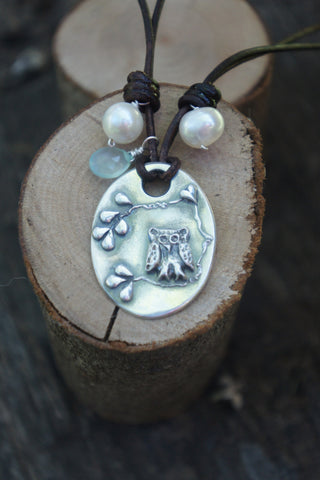 Wise Heart Owl Necklace