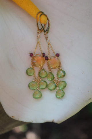 Citrine Goddess Earrings
