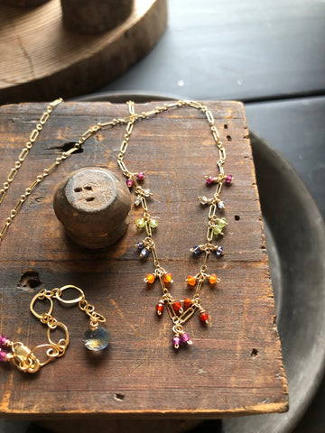 Tiny Gem Goldfill Necklace