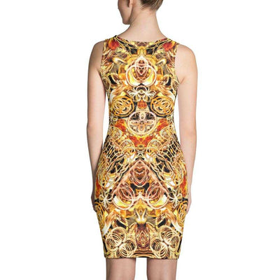 www.ultrapoi.com XS Fire Artist Women's Fitted Dress