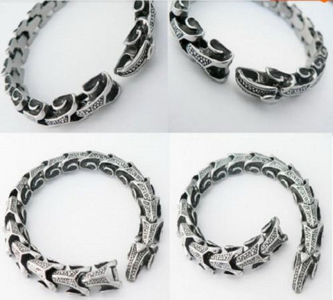 Stainless Steel Dragon Scale Bracelet