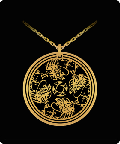 Dragon Head Laser Engraved Necklace