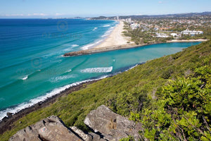 Looking towards Palm Beach from the lookout at Burleigh Head National Park