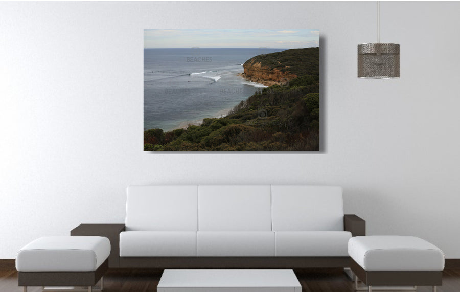 Photograph from the carpark at Bells Beach on the Surf Coast of VIC.
