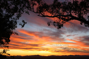 A photograph of an amazing and colourful sunset lighting up the sky at Tamworth in country NSW.