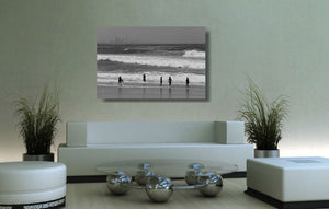 An acrylic print of Kirra Beach on the Gold Coast, QLD hanging in a lounge room setting
