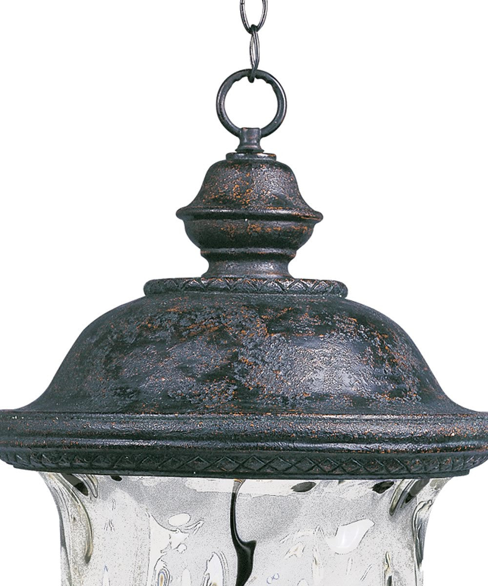 "13""w Carriage House Vivex 3-Light Outdoor Hanging Lantern Oriental Bronze"