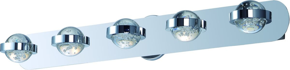 "36""w Cosmo LED 5-Light Bath Vanity Polished Chrome"