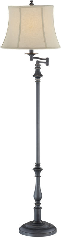Laurence 1-Light Floor Lamp Dark Bronze Metal Body