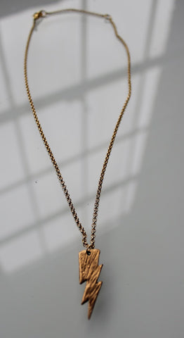 Lightning 100 Bronze Lightning Bolt Necklace
