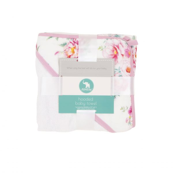 All4Ella Floral Hooded Towel