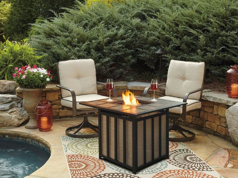 Russet Fire Pit Table - Katy Furniture