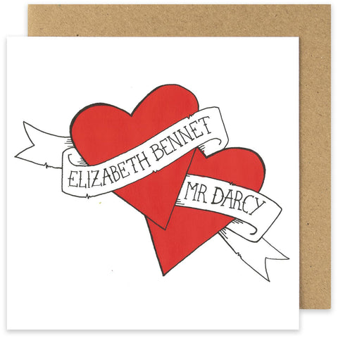 Card - Elizabeth Bennet & Mr Darcy - Valentine-Cards-Book Lover Gifts