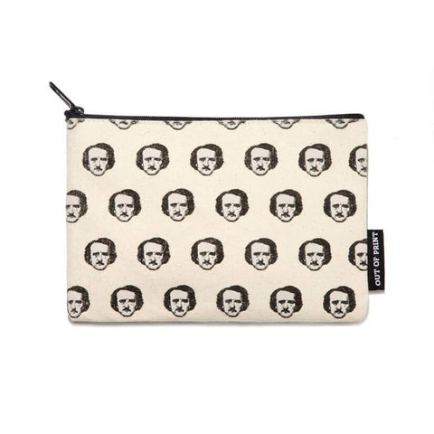 Pouch / Zip Up / Make Up Bag / Pencil Case - Edgar Allan Poe-ka Dots