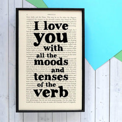 Book Print - I Love You with All the Moods - Dracula-Print / Poster-Book Lover Gifts