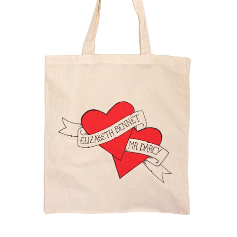 Tote Bag - Jane Austen - Elizabeth Bennet & Mr Darcy-Bag-Book Lover Gifts