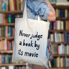 Bag / Tote - Never Judge a Book by its Movie-Bag-Book Lover Gifts