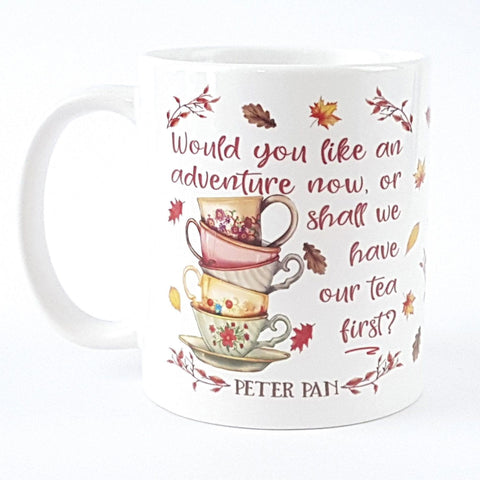 Mug - Peter Pan - An Adventure Now or Tea First-Mug-Book Lover Gifts