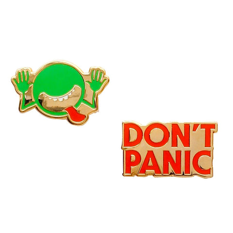 Enamel Pin Set - The Hitchhiker's Guide to the Galaxy