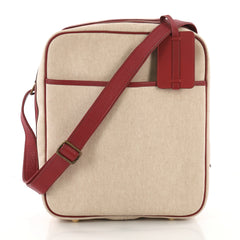 Hermes Victoria Messenger Bag Toile with Leather Medium Neutral 3634756
