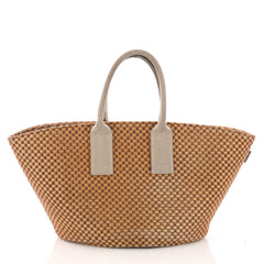 Basket Weave Tote Woven Jute Small