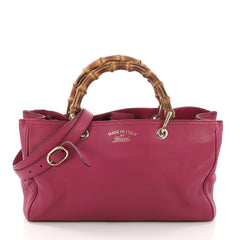 Gucci Bamboo Shopper Tote Leather Medium Pink 380983