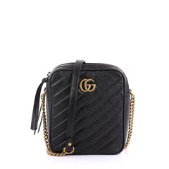 Gucci GG Marmont Double Zip Camera Bag Matelasse Leather 4101039