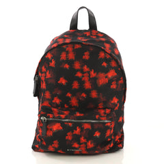 Givenchy Pocket Backpack Printed Nylon Red 415851