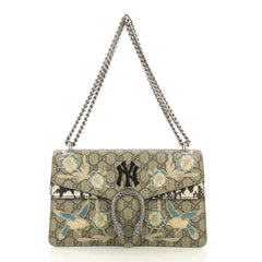 Gucci Dionysus Bag Embroidered GG Coated Canvas with Python Brown 4170055