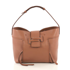 Tod's Double T Shopping Tote Leather Medium