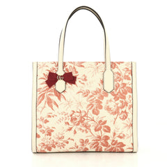 Gucci GG Ribbon Tote Coated Printed Canvas Medium Red 4320885