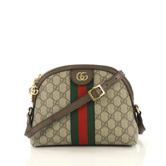 Gucci Ophidia Dome Shoulder Bag GG Coated Canvas Small Brown 432891