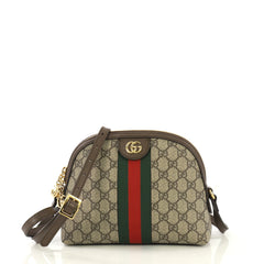 Gucci Ophidia Dome Shoulder Bag GG Coated Canvas Small Brown 436121