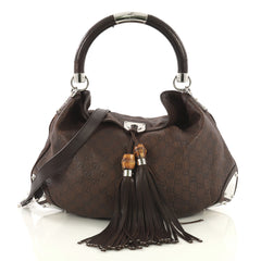 Gucci Indy Hobo Guccissima Leather Large Brown 436421
