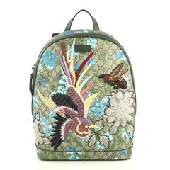 Gucci Zip Backpack Blooms Print Embroidered GG Coated Canvas Medium Print 4366492