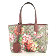 Gucci Reversible Tote Blooms GG Print Leather Small Brown 437091