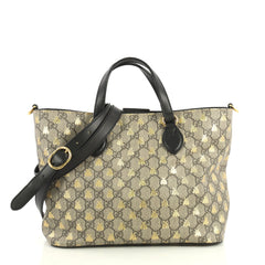 Gucci Convertible Soft Tote Printed GG Coated Canvas Small Brown 43727111