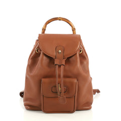 Gucci Vintage Bamboo Backpack Leather Mini Brown 43727130