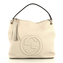 Gucci Soho Convertible Hobo Leather Large White 4376147