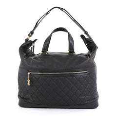 Chanel Casual Style Bowling Bag Quilted Caviar Large Black 437642