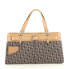 Christian Dior Vintage Trotter Horizontal Tote Diorissimo Canvas Large 438288